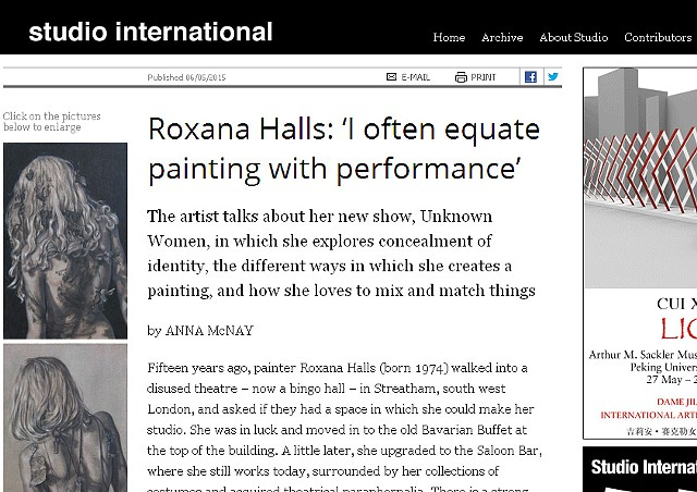 Studio International - 'I Often Equate Painting With Performance'