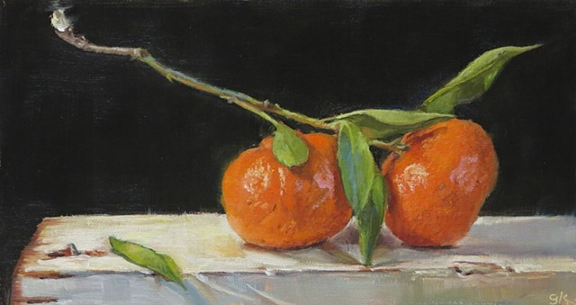 A Long Stem and Two Tangerines