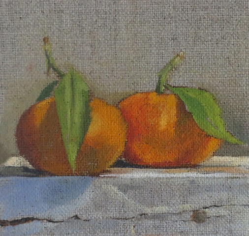 oil painting, fruit, tangerines, still life,