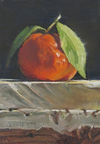 oil painting, fruit, tangerines, still life