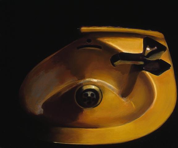 fine art oil painting gabel karsten kokinda sinks still life realistic