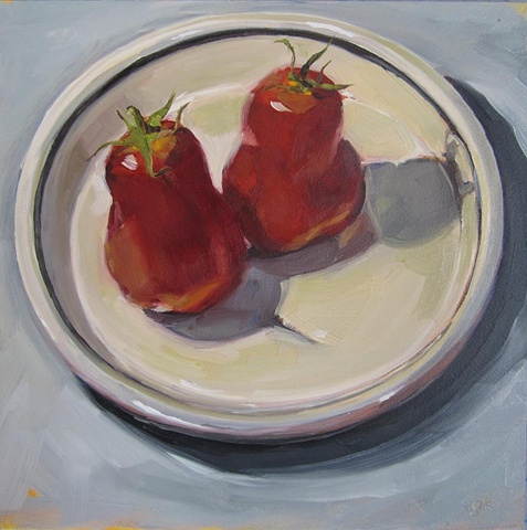 still life, fruit, oil painting, tomatoes