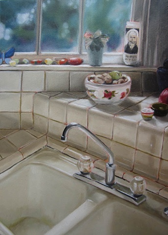 gabel karsten oil painting sink still lives handmade austin fine art