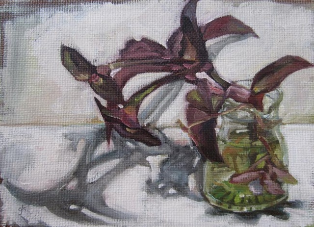 oil painting, impressionism, gabel karsten, flowers, plants, still life, daily painting