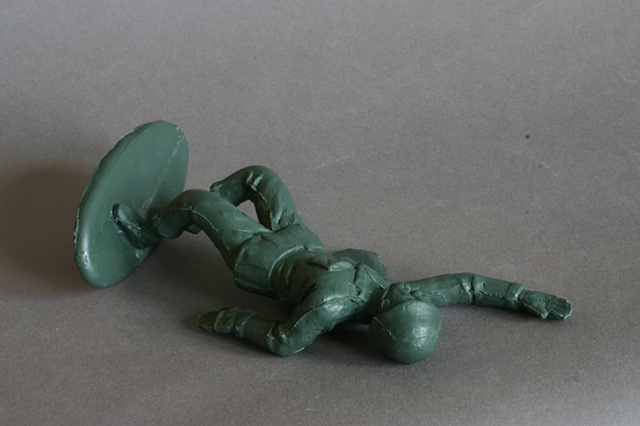 alternate view, Wounded Army Man
