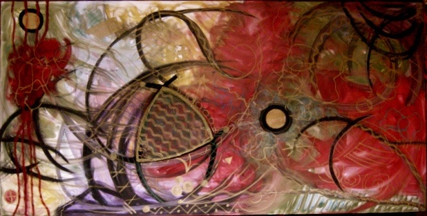 very large painting...abstract