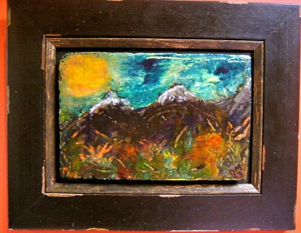 Landscape on tile