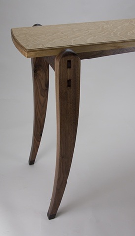 Oak Top Side Table End View