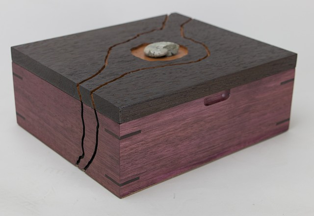 purpleheart, wenge jewelry box, keepsake box
