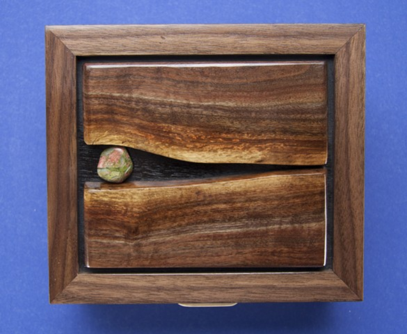 Jewelry or keepsake box, curly walnut, curly maple, chatoyance