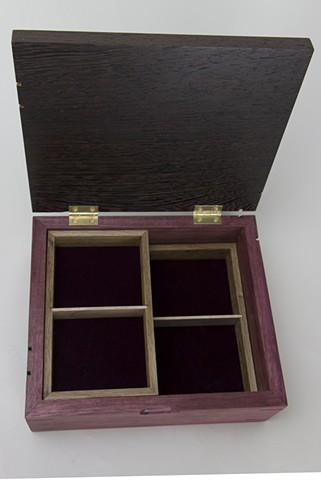 Purpleheart and Wenge Jewelry Box