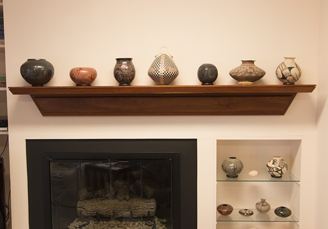 free floating fireplace mantel