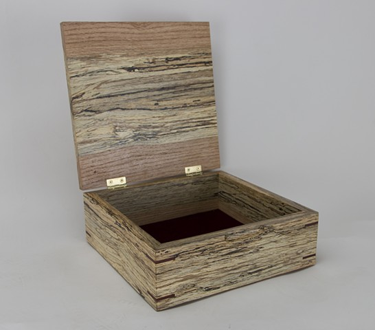 Spalted Red Oak Jewelry Box