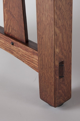Detail of Craftsman Style Coffee Table
