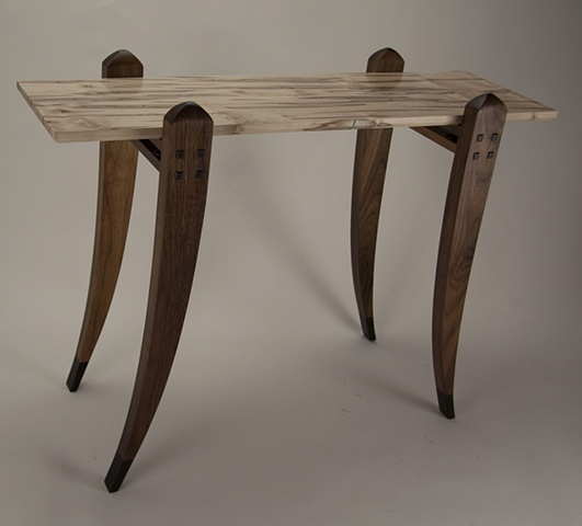 Ambrosia Maple Table with Walnut Legs