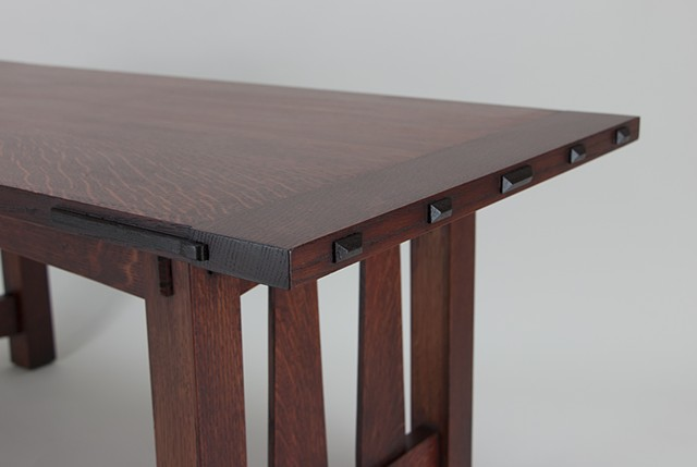 Craftsman Style Coffee Table Detail
