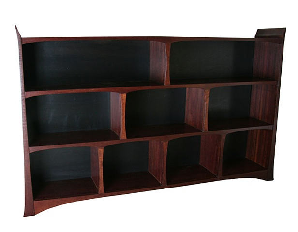 Purpleheart Bookcase