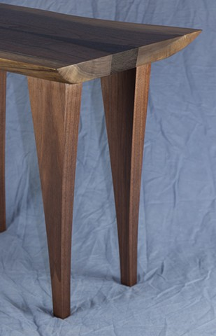 Detail view of chair side table