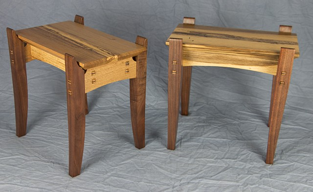 Walnut and Spalted Oak Cocktail Tables
