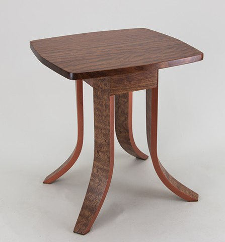 bubinga table, bent laminations