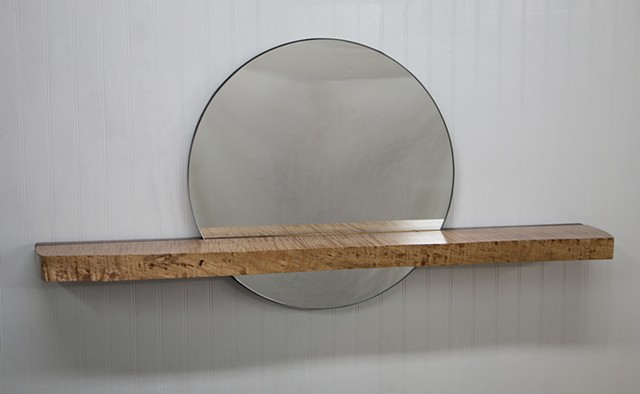 mirror, tiger maple, curly maple