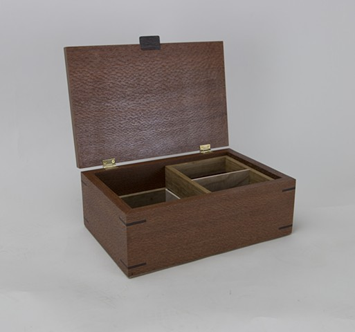 Lacewood Jewelry Box with lid open