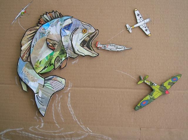 Untitled 9 (fish eating plane)