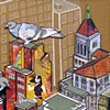 Untitled 5 (pigeons on roof) SOLD