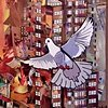 Untitled 20  (pigeons on rooftops 2)