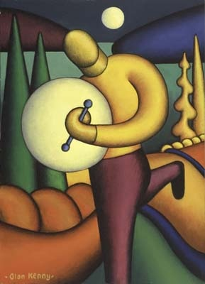 Moonlit Bodhran Player