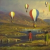 Landscape with Girls and Balloons