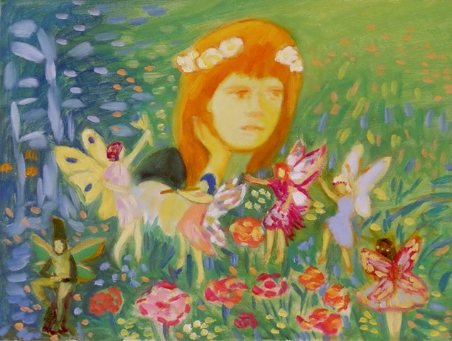 A Girl with Fairies