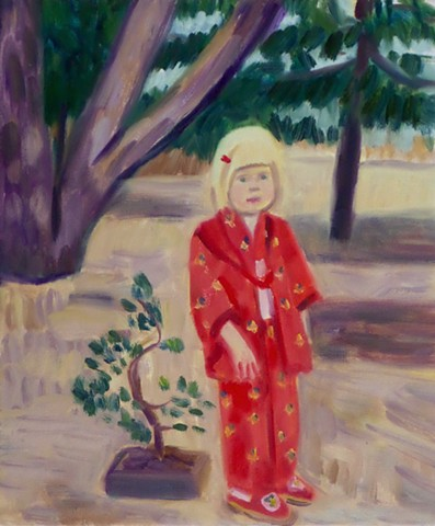Little Blonde Girl in Japan