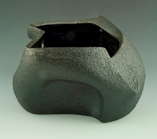 Black Serving / Flower Bowl View 3