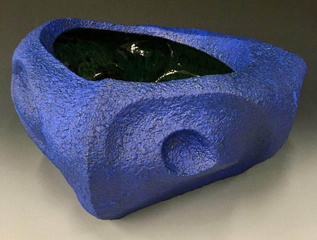 Blue Serving Bowl View 3