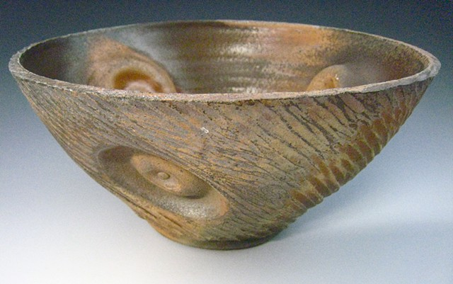 Bowl, Cone 10 Stoneware, Wood Fired