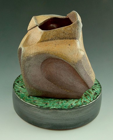 Stoneware Vase on Drain view 3