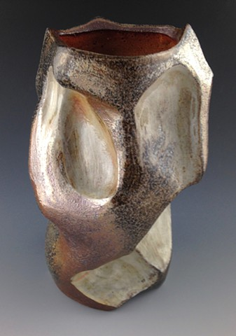 Altered Stoneware Vase View 2