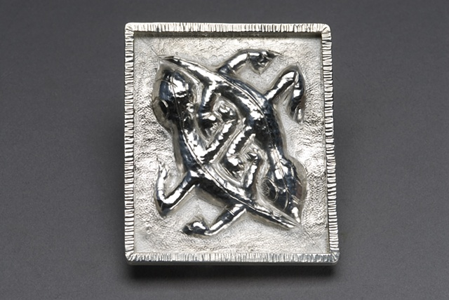 Silver Repousse Brooch