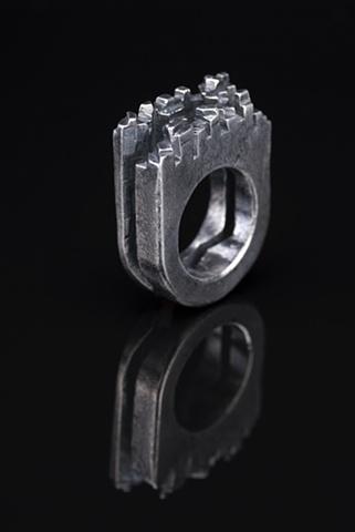 Silver Italian Village Ring