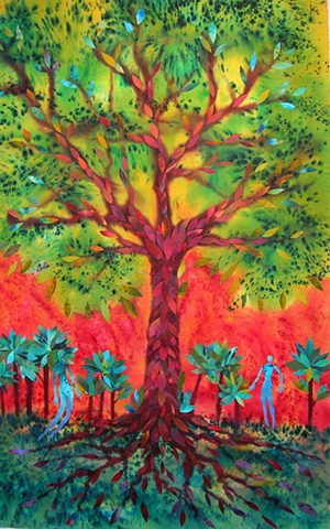 The Tree of Life with two figures