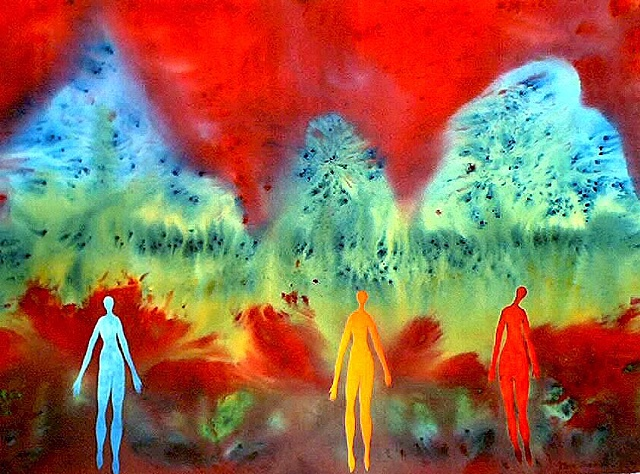 Three Immortals appear as mountain spirits