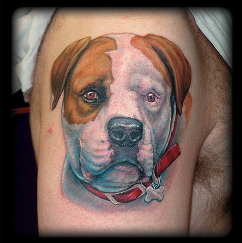 crucial tattoo studio salisbury maryland tattoos bulldog portrait jon kellogg