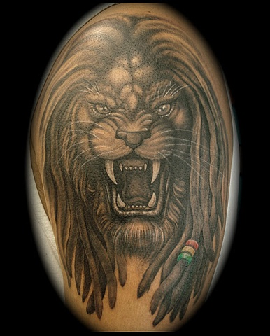 Salisbury Maryland tattoos crucial tattoo studio rasta lion tattoo tattoos dreads dreadlocks lion