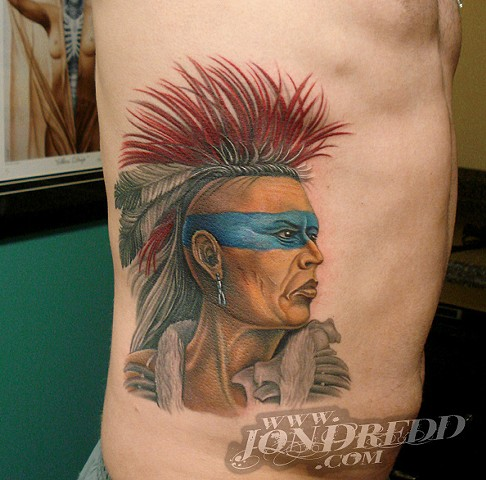 indian mohawk crucial tattoo studio salisbury maryland delaware best tattooer artist jon dredd kellogg tattoos