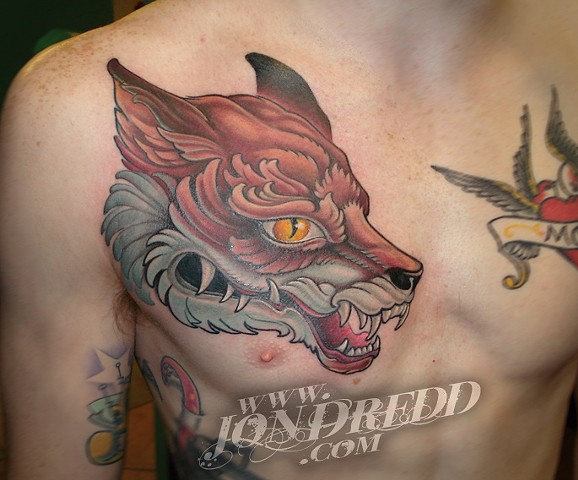 fox head crucial tattoo studio salisbury maryland delaware jon dredd kellogg tattoos