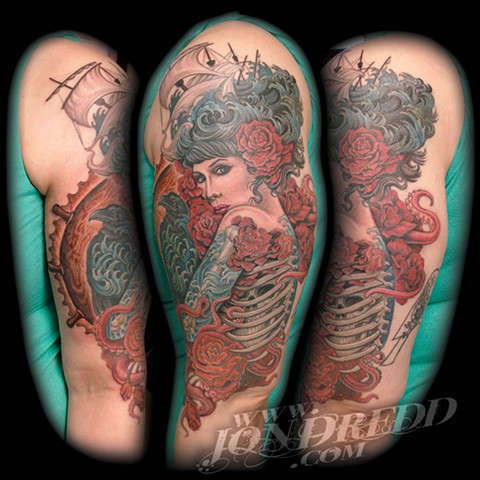 crucial tattoo studio best tattoos salisbury maryland tattoos jonathan kellogg jon dredd snow white disney tattoo delaware ocean city ship water girl sea