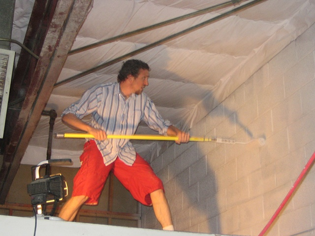Painting the interior of the building