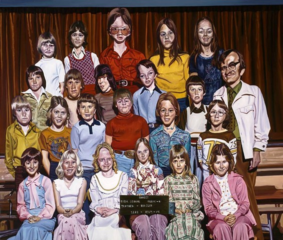 Class photo painting