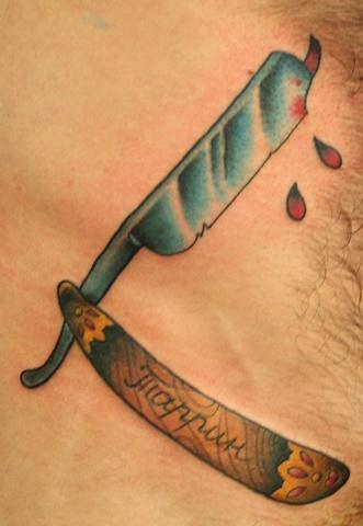 cut throat tattoo designs my site. Black Bedroom Furniture Sets. Home Design Ideas